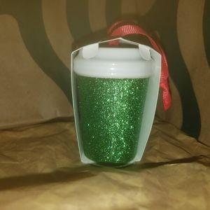 Starbucks Holiday - Starbucks Green Glitter coffee cup ornament